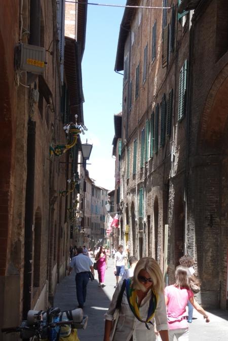 Siena sokakları