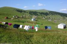 Goderdzi Geçidi'nde bir köy